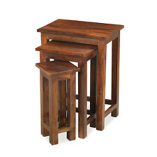 Solid Sheesham Wood Nest Of 3 Tables | Madras Range