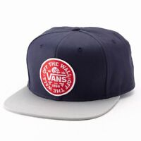 Vans STAMPLEY Mens Snapback Hat (NEW) Navy Grey Cap OFF THE WALL Free Shipping!