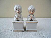 "Vintage Set Of Boy & Girl Praying Figurines "" BEAUTIFUL COLLECTIBLE SET """