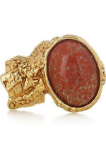YSL YVES SAINT LAURENT ARTY RING-ORANGE - SIZE 5 -BOXED- BAG- FROM NET-A-PORTER