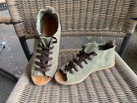Vicini Tapeet Open Toes Peeptoes Boots Espadrilles Sneaker kaki  Gr. 38/ NP 249