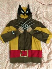 1b13b598 MARVEL X-MEN WOLVERINE COSPLAY COSTUME FULL ZIP HOODIE SWEATSHIRT SIZE M  +BONUS!