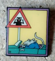 Pin's Pins Rat Souris Chat Humoristique