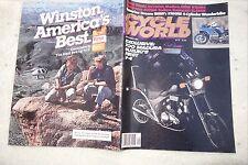 motorbike magazine. Cycle World. BMW K100RS. Husqvarna 400WR.