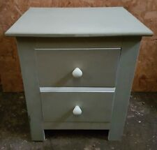 bedside cabinet 2 drawer chest shabby chic locker ready to finish big and bold