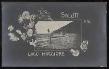 cartolina NOVARA saluti dal lago maggiore