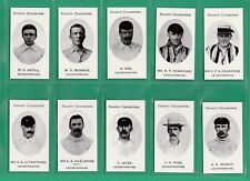 CRICKET - NOSTAGIA CLASSIC REPRINTS - TADDY - SET OF 14 LEICESTER CRICKETERS