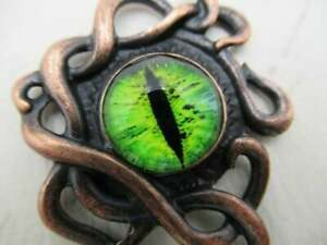 Dragons Eye Octopus Pendant Halloween Decoration Steampunk Gothic Copper - 1pc
