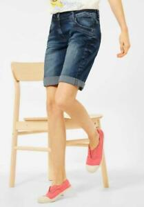 CECIL Damen Jeans Denim Shorts - Bermuda - kurze Hose blau B374104-10240-5 NEU