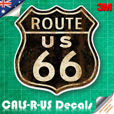 Classic USA ROUTE 66 Sign Luggage Decal Sticker Guitar Skateboard Laptop. 3M
