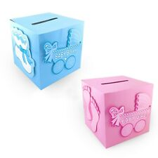 Baby Shower Carriage Cardboard Gift Card Wishing Well Boy Girl Decoration Box