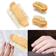Wooden Nail Brush For Manicure & Pedicure Scrubbing Clean Bristles Both'Sides Hl