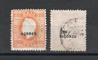 Azores - Sc# 53b & 54b Used (shallow thins) / Perf 12 1/2 /  Lot 0220013