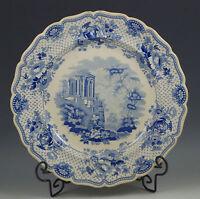 ANTIQUE c.1830 RIDGWAY ITALIAN TEMPLE OF SYBIL, TIVOLI  DINNER PLATE SCARCE