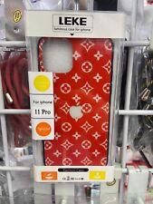 """Red - iPhone 11 Pro 5.8"""" LED Light Illuminated Apple Logo Case"""