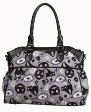 Banned Apparel Lucky 13 Black Cats Broken Mirrors Shoulder Bag w/Shoulder Strap