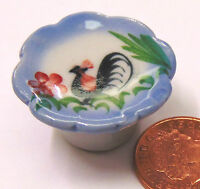 1:12 Scale Cockerel Cake Stand Dolls House Miniature Ceramic Food Accessory C31