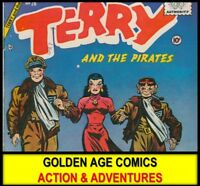 Golden Age ACTION ADVENTURES COMICS SERIES DVD Charlton Robin Hood Terry Pirate