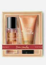 VICTORIA'S SECRET BARE VANILLA TRAVEL SIZE LOTION + MIST 2 PIECE GIFT SET NIB
