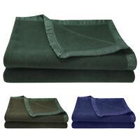 Thicken Warm Wool Blanket Fire Retardent Bed Blanket 60 x 80in Indoor Outdoor
