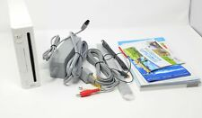 Nintendo Wii White Console System w/ Charger, Sensor Bar, AV Cord * FOR PARTS