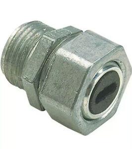 "6- Thomas & Betts (Steel City )#UF201-1  1/2""WaterTight Connectors Die Cast Zinc"