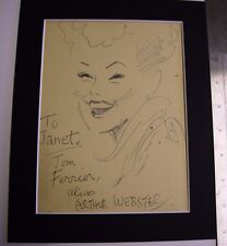 ARTHUR FERRIER ARTIST ORIGINAL SIGNED SKETCH MOUNTED RARE AND COLLECTABLE