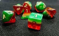RPG Würfel Set Poly DND Rollenspiel dice4friends HD Dice transparent Watermelon
