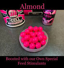 Mainline Cell Pop Ups Boilies carp bait 25x12mm Pink Soaked In Korda Goo Almond