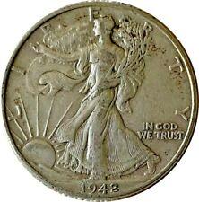 1942-S Silver Walking Liberty Half Dollar Grading VF/XF