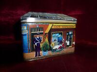 La Maison De La Poupee FRENCH SHOPS HOUSE SHAPED NOVELTY TIN Food Advertising #1