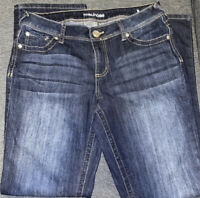 Maurices Womens Stretch Denim Straight Boot Cut Medium Wash Jeans Size 7/8 Reg