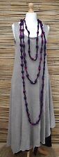 ZUZA BART*DESIGN HAND MADE BEAUTIFUL WOOL VERY LONG NECKLACE**PURPLE/PINK/BLACK*