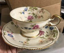 Castleton China Sunnyvale double bow cups and saucers buy 1 or up to 9 EXC
