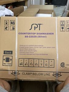 SPT Countertop dishwasher SD-2202S (silver). Holds 6 place settings. New in Box.