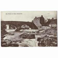 EAST LINTON Old Bridge on the Tyne, East Lothian RP Postcard Postally Used 1916
