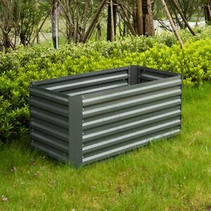 Galvanised Steel Raised Garden Beds Planter Kit 100x80x60cm Grey