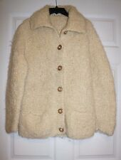 Avoca Handweavers 100% wool Hand Knit Wicklow Ireland Sweater Cardigan M/L