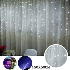 LED Window Curtain Icicle String Fairy Lights Wedding Party Christmas Decor CA