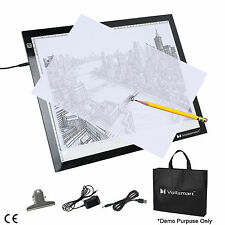 "19"" LED Artist Stencil Tracing Board Table Display Light Box Pad Tattoo Drawing"