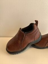 Roper Brown Leather Slip On Loafers Baby Size 4
