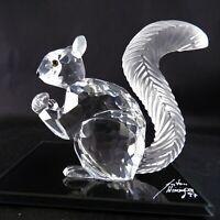 Swarovski Figurine - 10th SCS Anniversary Squirrel Retired in 1997 with Mirror