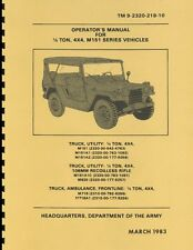 TM9 2320 218 10 ~ Operator's Manual for 1/4 Ton ~ M151 ~ Jeep / Mutt ~ Reprnt