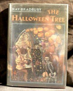 THE HALLOWEEN TREE RAY BRADBURY SIGNED w/DRAWING 1972 Edition w/ COA HC/DJ