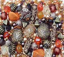 Arabian Nights Orange Jewellery Making Beads Mix Starter Kit Set 80g