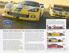 "2008 Corvette Racing/Audi Racing ""Green Racing"" ALMS ""2nd issued"" postcard"