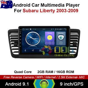 "9"" Android 9.1 Quad Core Car Non DVD GPS For Subaru Liberty 2003-2009"