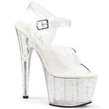 Pleaser Adore-708MG Shoes Ankle Strap Platform Sandals High Heels Pole Dancing