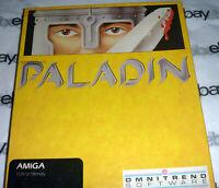 100% COMPLETE Commodore Amiga 512k PALADIN Big Box Game 1988 disk Omnitrend rpg