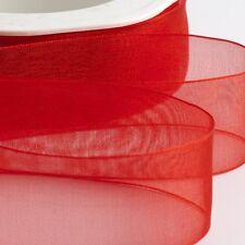Organza Woven Edge Ribbon Cut Lengths 7mm 15mm 25mm 38mm